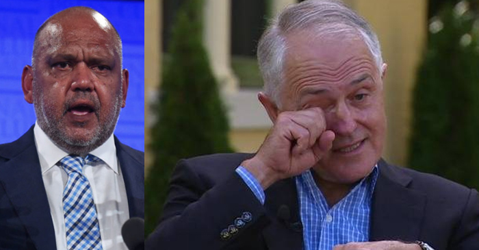 Malcolm Turnbull Unable To Disprove Noel Pearson's Claim That He Is A White C*nt