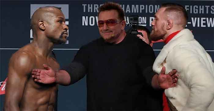 Bono urges Mayweather and McGregor to find a peaceful solution to their souring relations