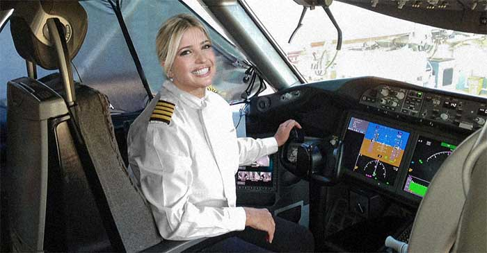 Ivanka Trump sits in for Air Force One pilot on return flight home from G20