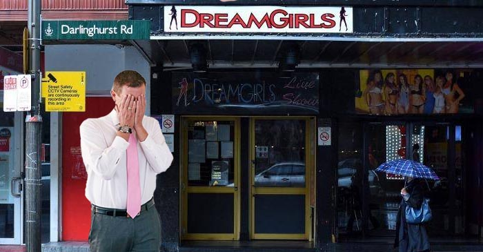 Mike Baird Cries Tears Of Joy After Seeing Numerous Closed Businesses In Kings Cross