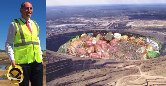 Barnaby Joyce Questioned About Plans To Turn Adani Mine Into World's Biggest Hāngī