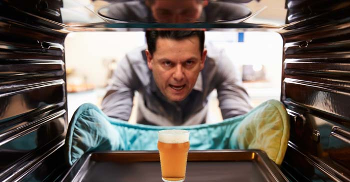 Stressed Out Nick Xenophon Heats Up A Pint Of Beer In The Oven To Unwind