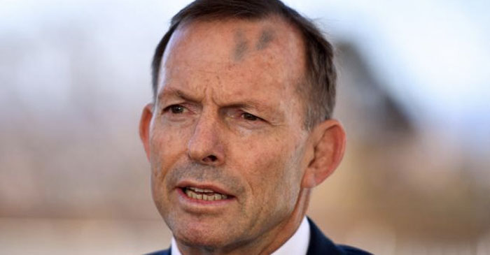 Tassie Protestor Says Abbott Was Lucky He Didn't Get Him With His Other Head As Well