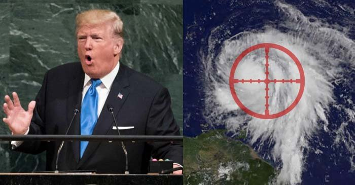 Trump Vows To 'Totally Destroy' Hurricane Maria If She Continues To Threaten The US