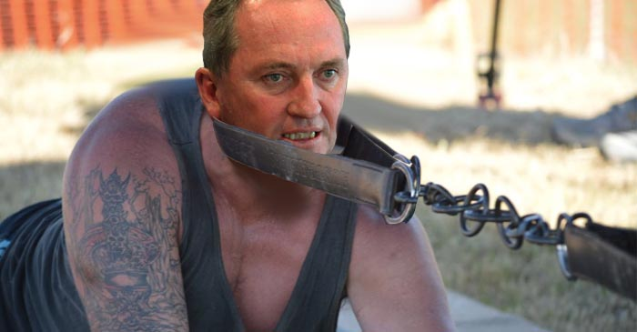 Barnaby Dominates Christensen In National Party's Annual Goanna Pull