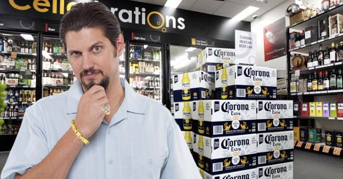 Bloke Who Wants People To Know He's Made The Big Time Torn Between Crownies Or Coronas