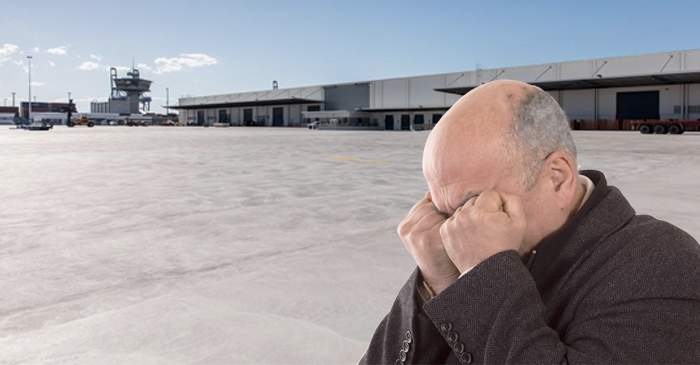 Local Greek Tears Up At Sight Of World's Biggest Concrete Slab At Port Of Brisbane