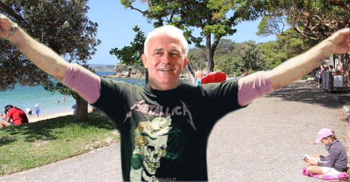 Malcolm Turnbull Steps Out In His Favourite AC⚡DC T-Shirt