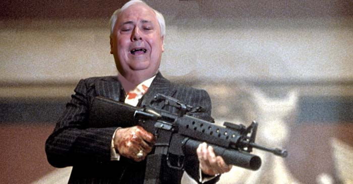 Clive Palmer Begins Firing M16 At Queensland Nickel Liquidators In Dramatic Final Stand