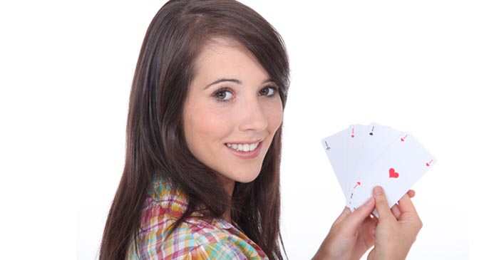 Teenage Girl Literally Can't Deal When Asked To At Her First Ever Poker Night