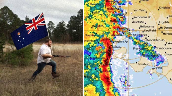"Authorities Plead With Victorian Gun Owners To Not Shoot At ""Major Weather Event"" This Weekend"