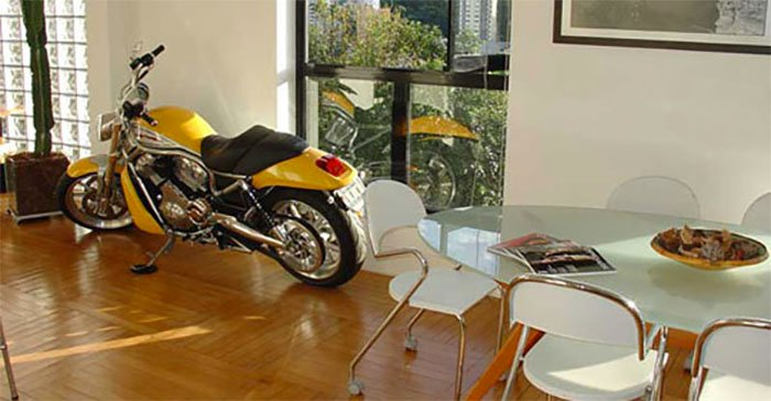 Local Advertising Agency Has A Cool Motorbike In Reception