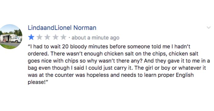 Local Chicken Shop Feels The Wrath Of 1 Star Review From Joint Facebook Account