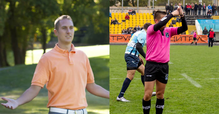 U12's Footy Ref Glad To Have Local Dad On Sideline To Fill Him In On Anything He Misses