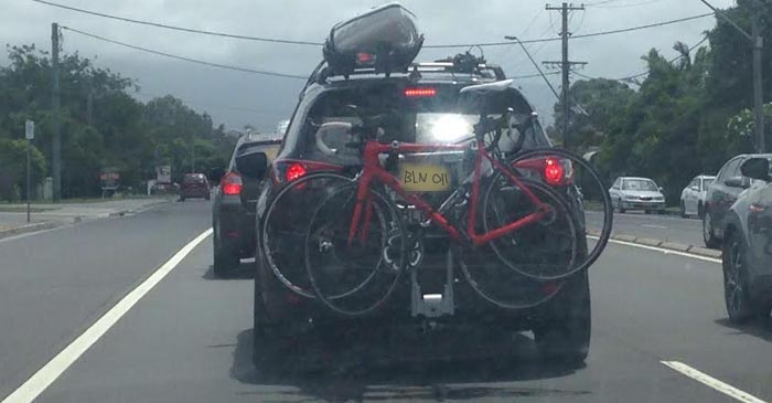 Homemade Number Plate Strapped To Back Of Mountain Bikes Is Fine Says Dad & Homemade Number Plate Strapped To Back Of Mountain Bikes Is Fine ...