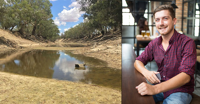 """""""There's Nothing Wrong With The Darling River"""" Explains Cotton Farmer's Son In Double Bay Pub"""