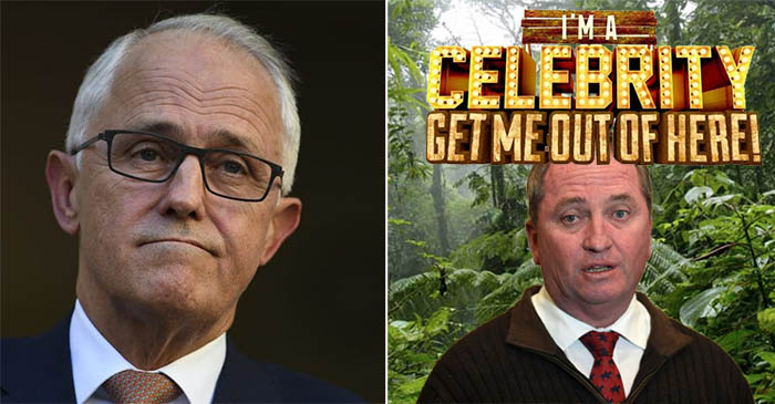 PM Regretfully Confirms Barnaby Joyce Has Taken Leave To Appear On I'm A Celebrity!
