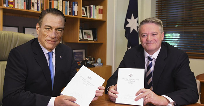 Mathias Cormann's First Act as Acting PM Was To Appoint Jean-Claude Van Damme His Deputy