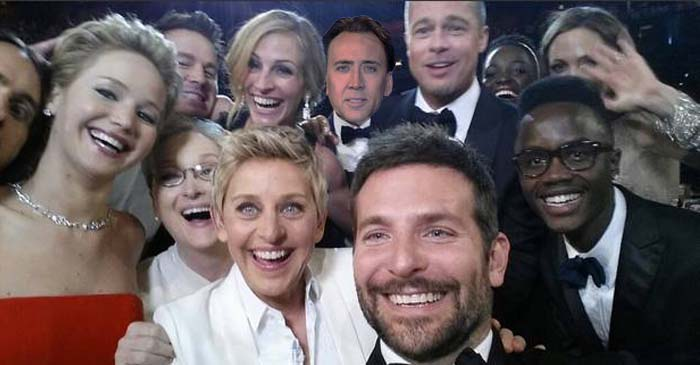 Disgraced Kevin Spacey Replaced By Nicolas Cage In Ellen Degenres' Iconic Oscars Selfie