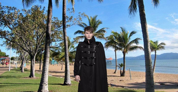 Tropical Goth Praised For Commitment To Trench Coat On Townsville Esplanade