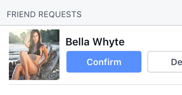 Friend Request From Unrealistically Hot Chick With No Mutual Friends Might Be Real Bro