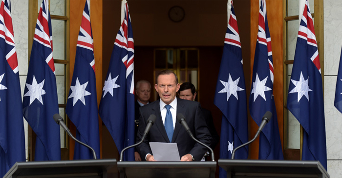 Abbott Whips Out The Flags And Prepares To Go Full Boats As Liberals Poll Behind ALP