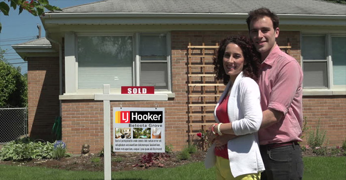 First Home Buyers Posing With 'Sold' Sign Acting Like They Had No Help From Parents
