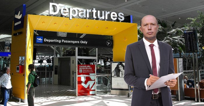 Dutton Spotted At Brisbane Airport Keeping Count Of Departing African Athletes