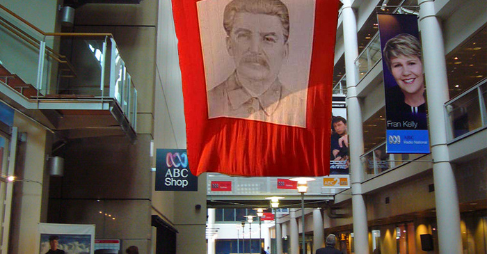 30-Metre Banner Of Joseph Stalin Draped In Foyer Of ABC Ultimo Raises Questions Of Bias