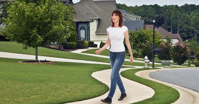 Irresponsible Woman Walks Somewhere