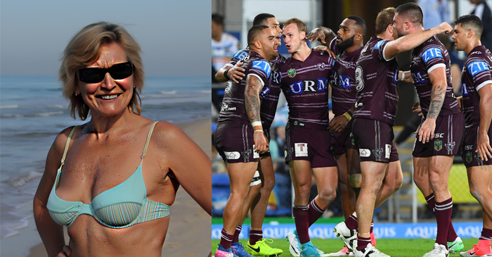 Leathery Surf Club Mum Reckons Some Of Those Islander Boys Aren't Too Hard On The Eyes