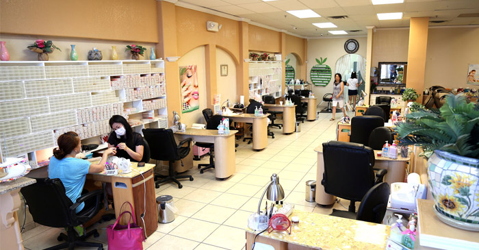 Quality Of Nail Salon Judged By Strength Of Sickening Chemical Odours Wafting Into Arcade