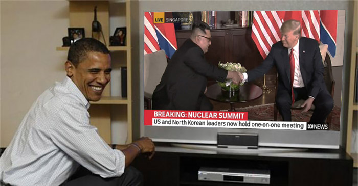 Obama Tells Dinner Guests What He Would've Said To Kim Jong-Un