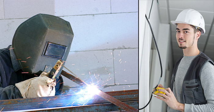 Labourer Knows He Shouldn't Be Looking At Bloke Welding – But Can't Help Himself