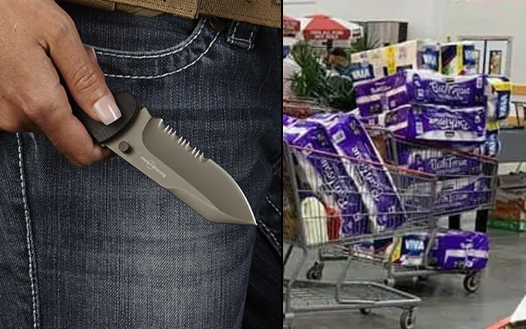 CostCo Mum Keeps An Ankshay On Her Just In Case
